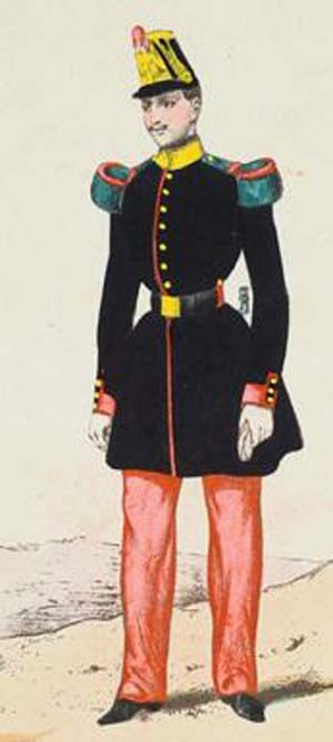 Soldat de l'infanterie de ligne Second Empire